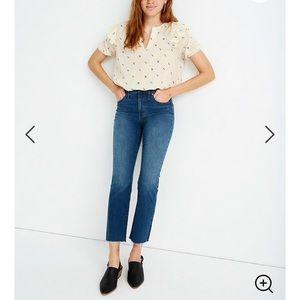 NWOT Cali Demi-Boot Jeans in Preston Wash: Raw-Hem